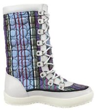 Coach Signature Peggey Tartan Plaid Quilted Women's Winter Boots - SIZE 7B, NWOT