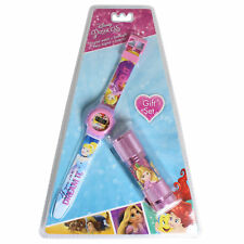 Disney Mini Métal DEL Lampe de Poche Torch & Watch Cadeau Set-PRINCESSE