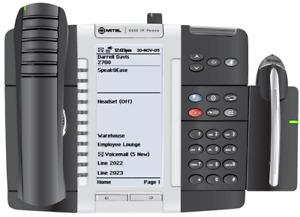 Mitel 5340e IP Phone VOIP Business Phone Telephone 50006478 + Wireless Headset