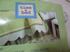 New TIME 4 BED FULL BEDSKIRT BUTTERFLY GARDEN NIP