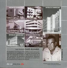 Dominican Rep 2017 MNH Jose Antonio Caro Alvarez 6v M/S Architecture Stamps