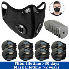 Activative Carbon Filter Valve Replacements Parts Most Cycling Mask Filters Lot
