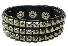 Mini Three Row Studded Punk Gothic Bracelet Dark Death Rock Thrash Metal