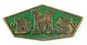 ! Antique 1923 German Bronze BMS DRG Class E 77 Electric Locomotive Plaque Train
