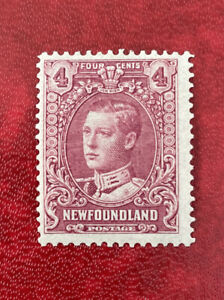 Newfoundland Canada Stamp 1928 Prince Edward 4c rose purple SG167a MLH