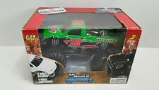 Rare Action Muscle Machines 18 Interstate Batteries Nascar Monster Truck 1:24