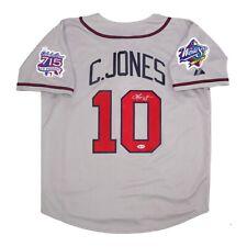 Chipper Jones signed Atlanta Braves 1999 World Series Road Grey Jersey BECKETT