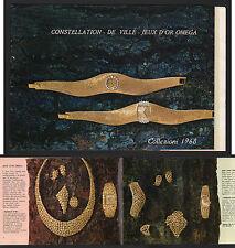 CATALOGO OROLOGI OMEGA 1968 UOMO DONNA ORO BRILLANTI CONSTELLATION DE VILLE JEUX