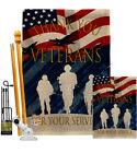 Thank You Veterans Burlap Garden Flag Service Armed Forces Yard House Banner