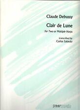 Claude Debussy -- Clair de Lune -- Harp Ensemble Sheet Music