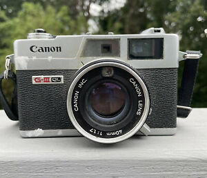 VINTAGE Canon Canonet QL17 GIII 40mm f1.7 Rangefinder Film Camera AS IS PARTS