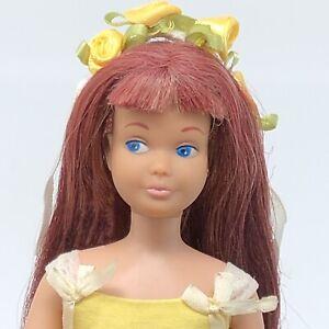 Vintage Skipper - OOAK Black Cherry Red Hair - in Flower Girl - Barbie