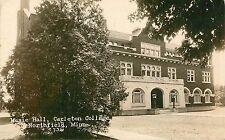 c1910 Music Hall Carleton College Northfield, Minnesota Real Photo Postcard/RPPC