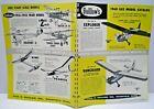 "1960 GUILLOW'S "" FLYING GAS MODELS "" double sided Dealer Sales Catalog L@@K!"
