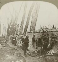 Soldiers of King Albert defend the line of the Yser - WW1 Stereoview
