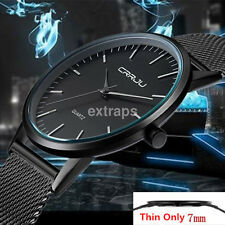 Luxury Ultra Slim Mens Stainless Steel Strap Sports Analog Quartz Wrist Watch