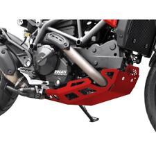 Ducati Hypermotard 821 BJ 2013-15 Motorschutz Bugspoiler Unterfahrschutz ALU rot