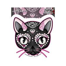 Pink Cat Sugar Skull Car Decal Sticker Miss Cherry Martini