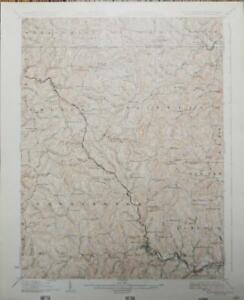 Antique Original Mannington West Virginia Topographic Map Printed 1926 Art