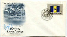 United Nations #400 Flag Series 1983, Barbados, ArtCraft, Fdc