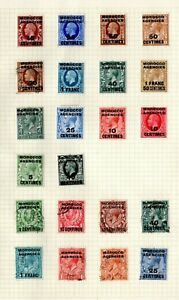 Morocco Agencies / Tangiers  - KGV & KGVI Mostly Mint Collection on 3 x Pages