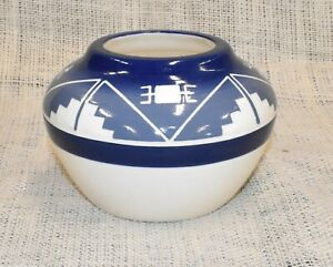 Lakota Sioux Pottery Native American Hand Made Oglala Design Medicine Bowl