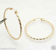 "Bellezza 40mm 1.5"" Round Twisted Hoop Earrings Bronze Yellow Color"