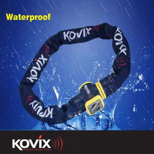 KOVIX ALARMED CHAIN 10mm X 1200mm MOTORCYCLE MOTORBIKE SCOOTER SECURITY LOCK