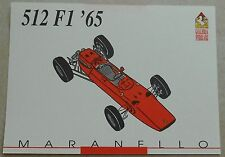 Ferrari Galleria 1992 512 F1 1965 Card Karte brochure prospekt book buch press