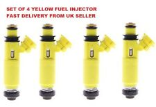 NEW MAZDA RX8 MX5 YELLOW FUEL INJECTOR SET OF 4 DENSO 195500-4450 SAME DAY DISPA