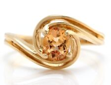 .55 Carat Natural Imperial Topaz in 14K Solid Yellow Gold Ring