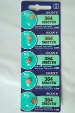 5x Sony 364, SR621SW Watch Battery 0% Mercury EXPIRE 06/2020 or later