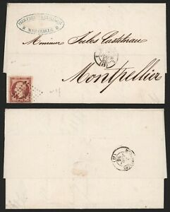France 1855 - Cover Marseille to Montpellier H174