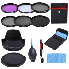 62mm UV CPL FLD ND2 4 8 Filter Kit+Lens Hood+Cap For Tamron AF 18-250mm/18-200mm