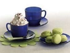 Duralex lys saphir tasses & soucoupes (12pc set)