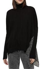 ALL SAINTS Alda Splash Roll Neck Jumper, Black Over Size XS UK 6/8/10 NEW