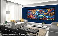 "51"" Print Abstract dreaming  painting canvas landscape art Australia aboriginal"