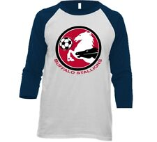 Buffalo Stallions MISL Soccer 3/4 Sleeve Tee Shirt With Logo