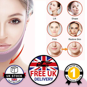 Face Slimming Mask V Line Face Lift Strap Patch Double Chin Reducer Firming UK