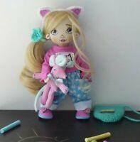 "OOAK Artist textile doll 10""   OOAK Artist cloth doll 10"""