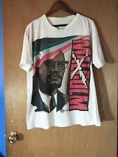 New listing Vtg 90s Malcolm X T-shirt Original Kacy Product Single Stitch Sz. Xl