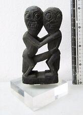 VINTAGE Balinese Bali Lombok Hand Carved Teak Wood Statue