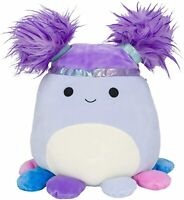 "Squishmallow Kellytoy 2020 Squish-DOOS 8"" Beula The Purple Octopus Plush Toy"