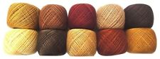 LOT 10 SHADES of BROWN 6 Ply Strand Cotton Thread Yarn Cross Stitch Embroidery