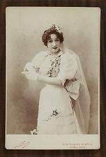 Mlle Tusini Actrice Théâtre Photo Cabinet card Nadar Paris