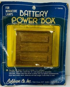 Vintage Battery Power Box For Miniature Lamps Dollhouse