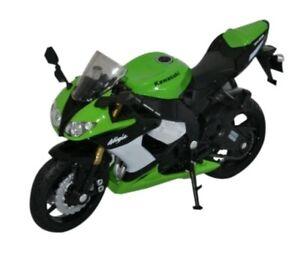 Welly Kawasaki ZX-10R Ninja 2009 1:18 Scale Model Motorcycle High Quality NEW