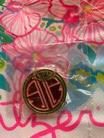 LILLY PULITZER Logo Enamel Pin Pink + Green Collectible RARE Stocking Stuffer!