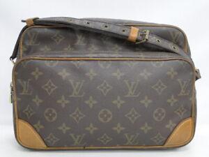 Auth Louis Vuitton Shoulder Bag Nil M45244 Monogram Brown France 40180098800 K