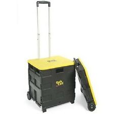 Two Wheel Collapsible Hand Truck Cart w/ Lid Seat Step Stool Rolling Dolly Carry